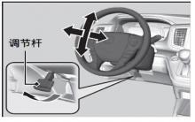 奥德赛调节方向盘方法