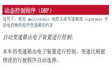 奥迪a4变速器动态控制程序DRP