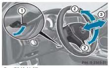 奔驰C级方向盘调节说明