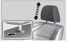 奥德赛前排头枕位置调节方法