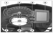 宝马摩托车F800R组合仪表