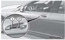 奔驰c200l钥匙功能图解