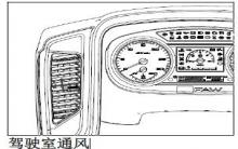 解放j6p驾驶室通风图解