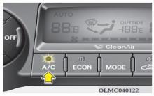 现代ix35自动空调开关