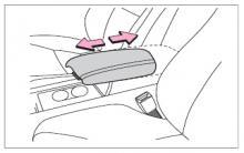 长城C50前排座椅扶手操作说明