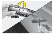 现代ix35自动灯光位置图解