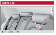 奥迪a4后座椅头枕调整