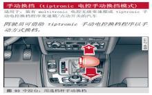 奥迪a4 tiptronic电控手动换挡模式