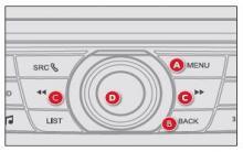雪铁龙C3xr单色显示屏控制键