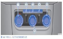 途观空调操作元件图解