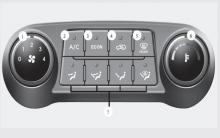 现代ix35手动空调控制系统