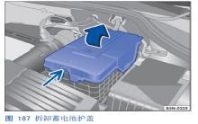 途观检查汽车蓄电池的电解液液位